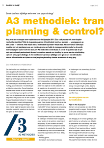 A3 METHODIEK: TRANSFORMATIE IN PLANNING EN CONTROL?