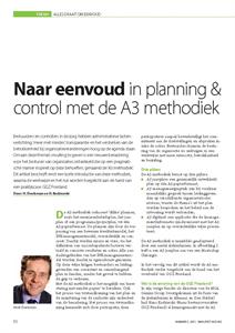 NAAR EENVOUD IN PLANNING & CONTROL MET DE A3 METHODIEK